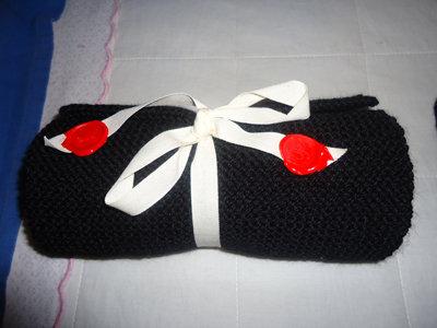 Sciarpina    Black& Red   By Festinalente