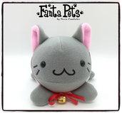 Pupazzo Baka Neko Grigio - Fanta Pets by Nixie Creations