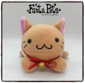 Pupazzo Baka Neko Marroncino - Fanta Pets by Nixie Creations