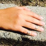 Anello in argento Destino per falangi, fatto a mano, regolabile