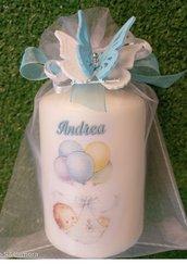 Candele personalizzate  bambino con tulle