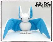 Pupazzo Sognastrello Bianco Azzurro - Fanta Pets by Nixie Creations