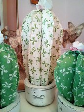 TRIS CACTUS di stoffa con vasetti in cemento