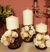 Set di candele autunnale