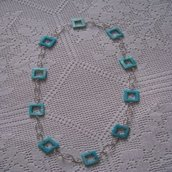 Collana Quadrati Azzurri