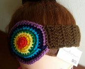 Fascia di lana per capelli arcobaleno