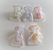 Sacchetti colorati confettata bomboniera