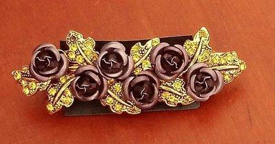 bellissimo fermacapelli con fiorellini  e strass