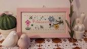 Schema punto croce cross stitch pattern model embrodery ricamo regalo per appassionate di appassionati primavera sal quattro stagioni spring
