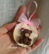 Medaglia orsetto idea regalo nascita Battesimo