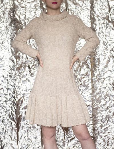 Mini abito 100% Alpaca beige fatto a mano - UnicOrn