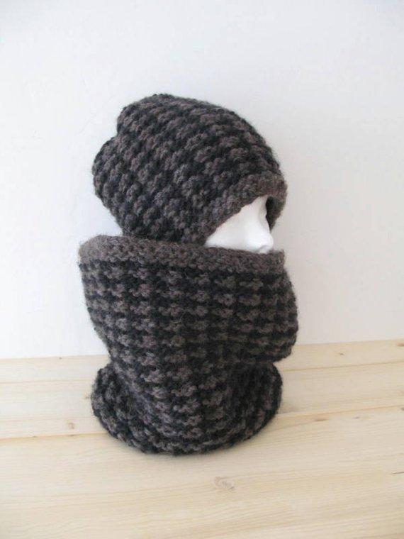 Collo - Sciarpa ad anello - sciarpa unisex - sciarpa per uomo - collo ad anello