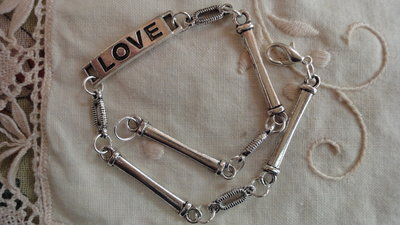 """Braccialetto """"love"""" per uomo cm. 23,5"""