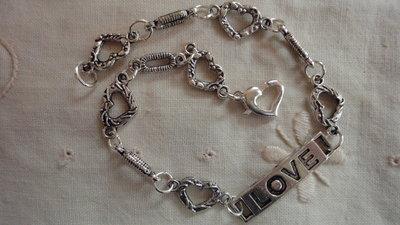 """Braccialetto """"love"""" per donna cm. 21"""