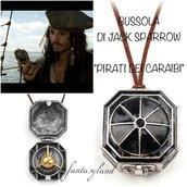 Collana BUSSOLA pirati dei caraibi jack sparrow ciondolo film