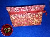 Trousse pochette arancio-rossa