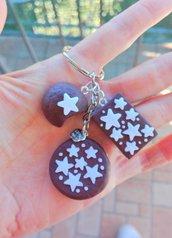 Portachiavi pan di stelle biscotto merendina mooncake