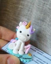 Statuina unicorno primo compleanno