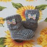 Stivaletti  scarpine crochet neonato bebè