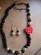 collana e orecchini flamenco