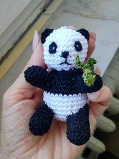 Panda portachiavi all'uncinetto, portachiavi panda fatto a mano, amanti degli animali, regalo per lui, regalo per lei