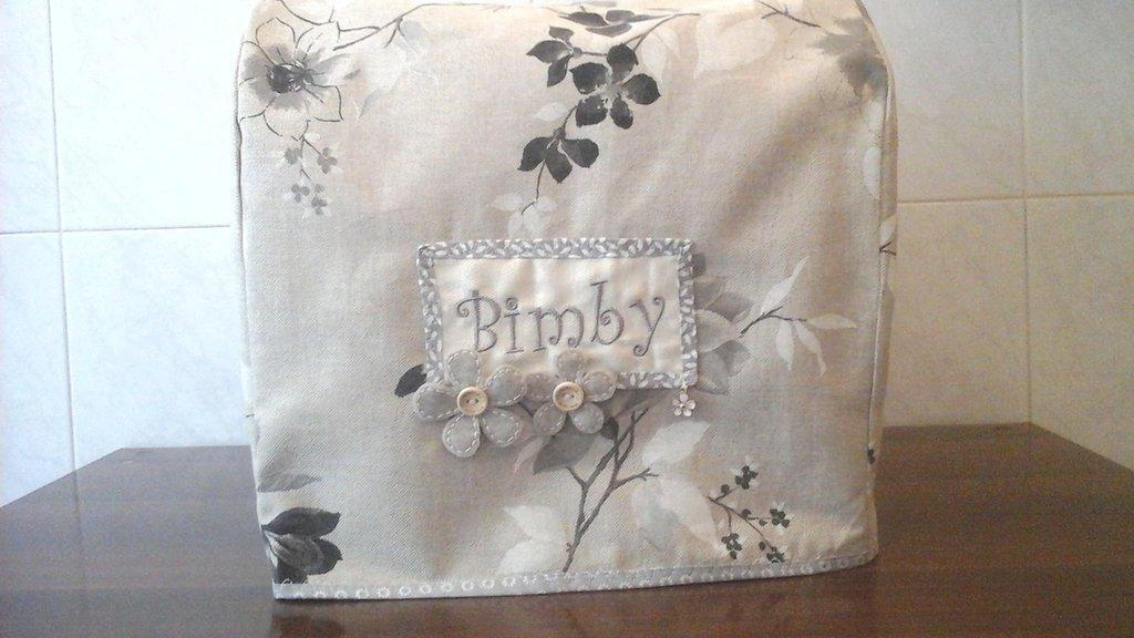 Copri bimby tm5 in beige e grigio double-face