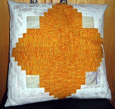 Federa per Cuscino Patchwork arancio