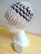 Berretto - berretto in lana - berretto hand Made -cuffia in lana - berretto a uncinetto