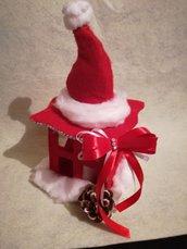 Lanterna natalizia fatta a mano in feltro