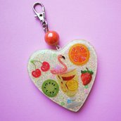 Portachiavi Heart Shape Summer