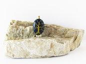 Albero della Vita su cabochon di Lapislazzulo, collana con ciondolo, risveglio dei chakra, sesto cakra, quinto chakra, albero della vita in ottone, albero della vita wire, collana regolabile, anallergico