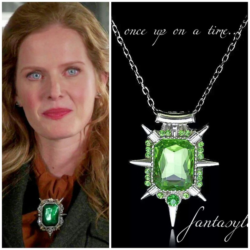 Collana once upon a time strega dell'ovest zelena OUAT strass