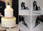 Topper cake sposi con cane