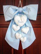 Fiocco nascita baby heart