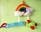 Fiocco nascita aereo, fiocco nascita nuvoletta, idea regalo nascita,  fiocco nascita maschietto