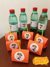 Lecca lecca personalizzati con adesivo super Mario compleanno