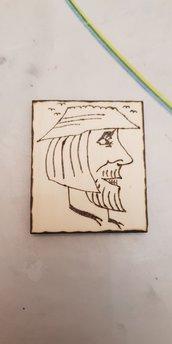 Simpatica calamita magnete double face in legno