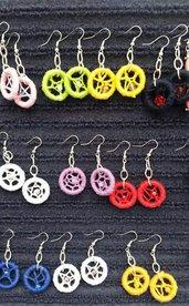 orecchino acchiappa sogni in cotone vari colori