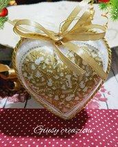 Decorazione di natale per albero a forma di cuore
