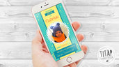 Invito digitale per battesimo di una Bimbo con foto, invio messaggistica instantanea, invito whatsapp, invito con foto