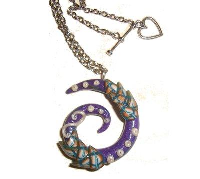 Ciondolo a Spirale Viola