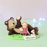 Cake Topper Personalizzata Masha e Orso