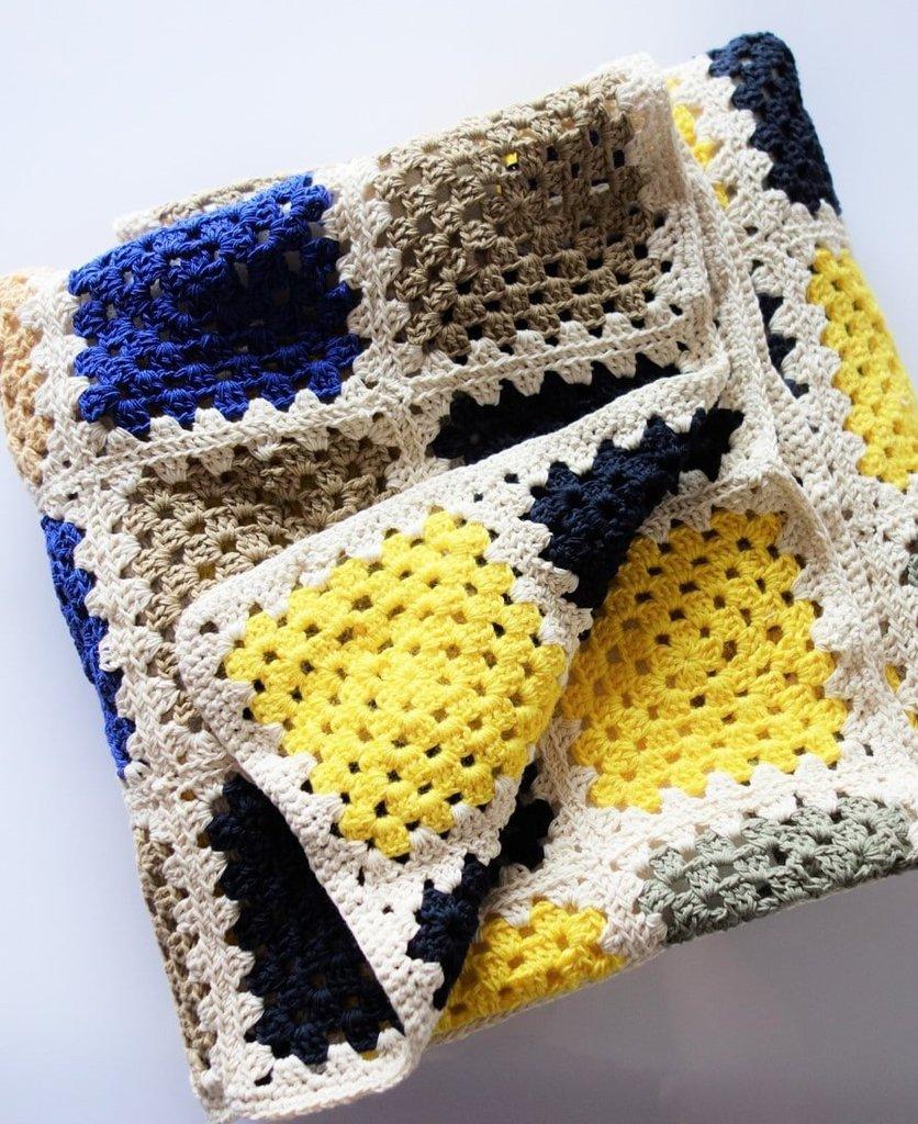 Copertina Alluncinetto In Puro Cotone Per Neonato A Quadri Colorat