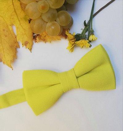 Papillon artigianale giallo senape elegante
