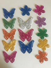 Fustellati farfalle e fiori gomma crepla
