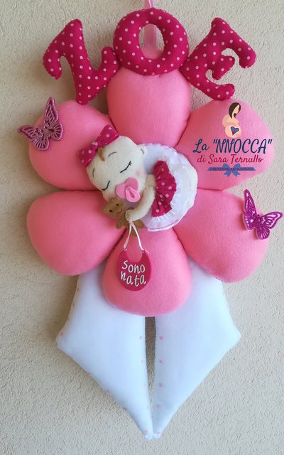 fiocco nascita a fiore
