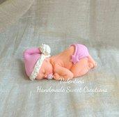 Bebè neonato bomboniera fimo