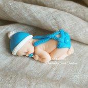 Bebè neonato bomboniera fimo Battesimo