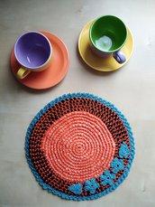 Sottopentola uncinetto in materiale riciclato accessori cucina ecofriendly