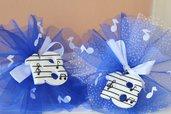 10 Portachiavi festa 18 anni, con note musicali